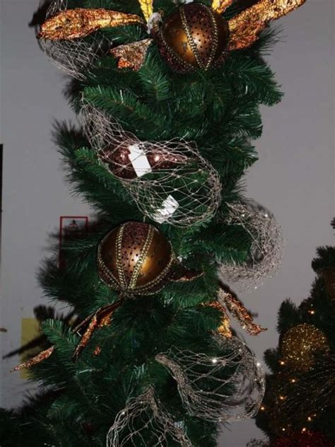 christmas tree mesh netting tip of the day use our glittered netting as tree garland shinoda design center
