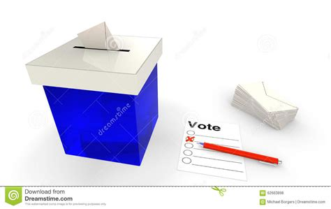 Pen Paper Royal Envelope blue ballot box with envelope stock illustration image 62663898