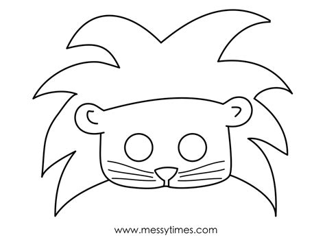 printable animal eye mask template free coloring pages of lion animal mask