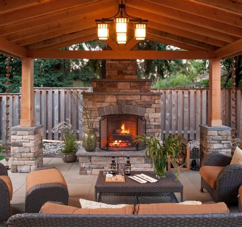 backyard patio designs with fireplace 17 best ideas about outdoor covered patios on pinterest