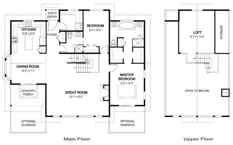 open concept cottage floor plans house plans the liberty 2 cedar homes