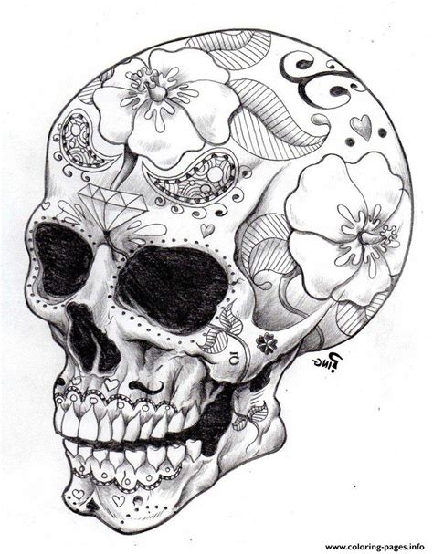 skull coloring pages for adults sugar skull coloring pages coloring home