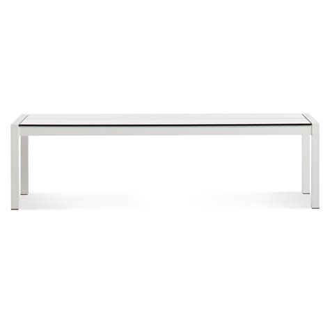 white table bench skiff outdoor bench modern outdoor bench blu dot