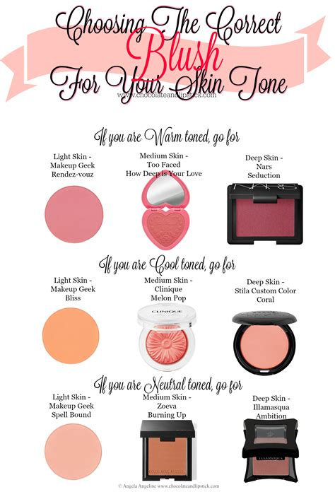 flushed skin color choosing the correct blush for your skin tone chocolate