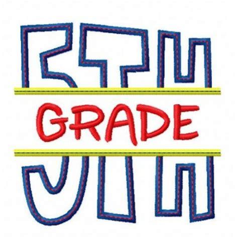for 5th graders split 5th fifth grade applique back to school