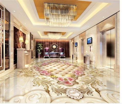 Country Style Bathroom Tiles Aliexpress Com Buy 3d Floor Wallpapers Continental