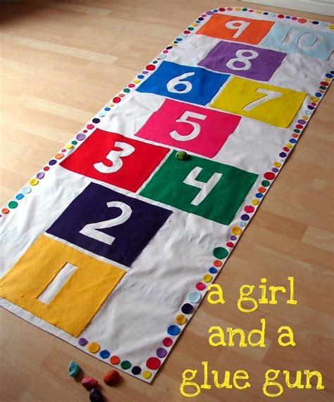 Hop Scotch Mat by Hopscotch Play Mat By A And A Glue Gun The Idea Room