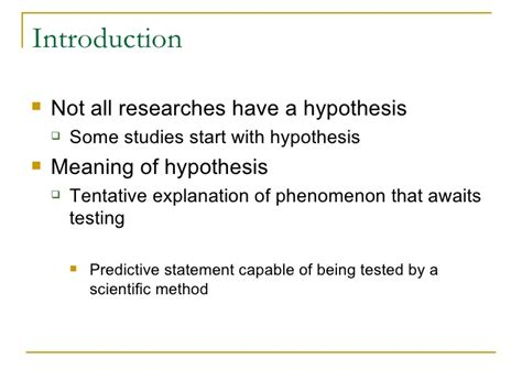 hypothesis template research hypothesis