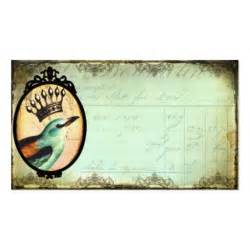 vintage business card template crowned vintage bird business card template zazzle