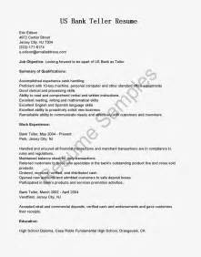 Teller Sle Resume by Resume Sles Us Bank Teller Resume Sle