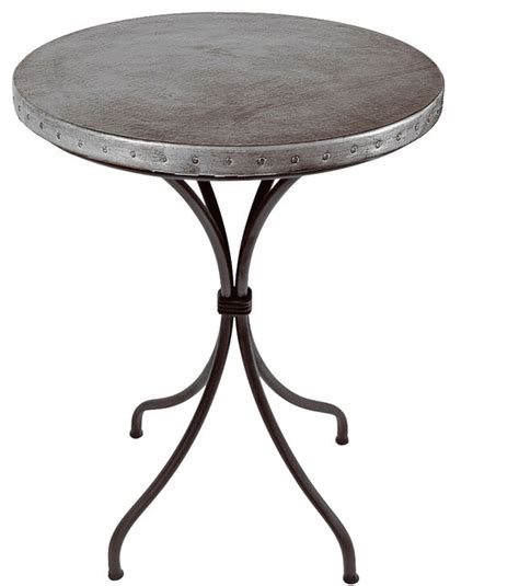 Zinc Top Bar Table Italia Counter Table Zinc Indoor Pub And Bistro Tables By Timeless Wrought Iron