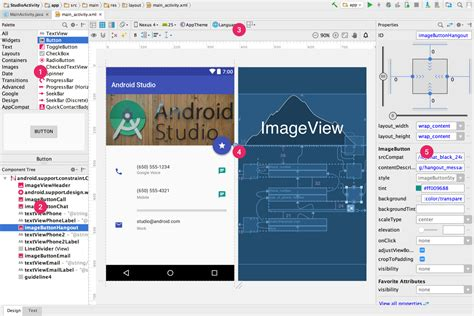 layout of android studio build a ui with layout editor android studio
