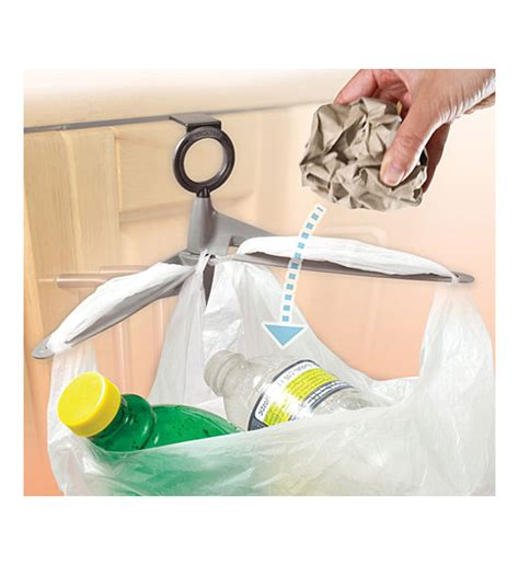 cabinet door trash bag holder in plastic bag recyclers