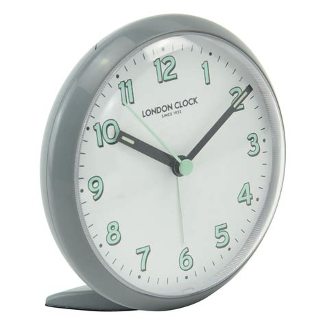 free shipping on clock company echo grey silent alarm clock beyond bright