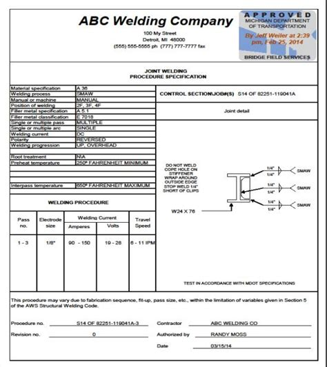 process specification template weld test process pictures to pin on pinsdaddy