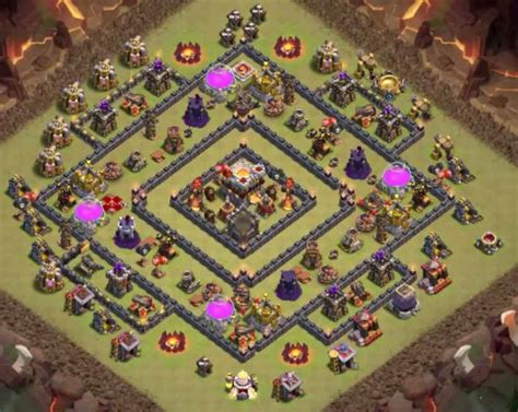clash of clans th10 war base layout 9 best th10 war bases anti valks bowlers 2 bomb tower