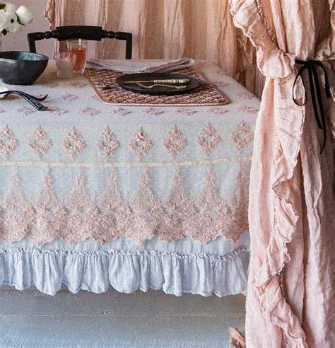 Shabby Table Cloth Pink Lace 2 356 best images about table setting on runners