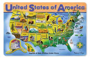 u s a map wooden jigsaw puzzle puzzlewarehouse