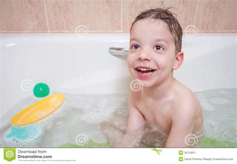 bathtub boy cute boy happiness having bath stock image image 35753611