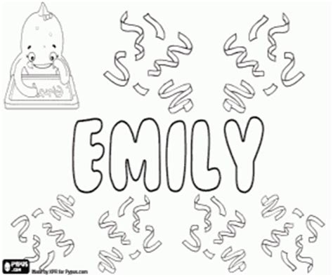 coloring pages with the name emily girl names with e coloring pages printable games