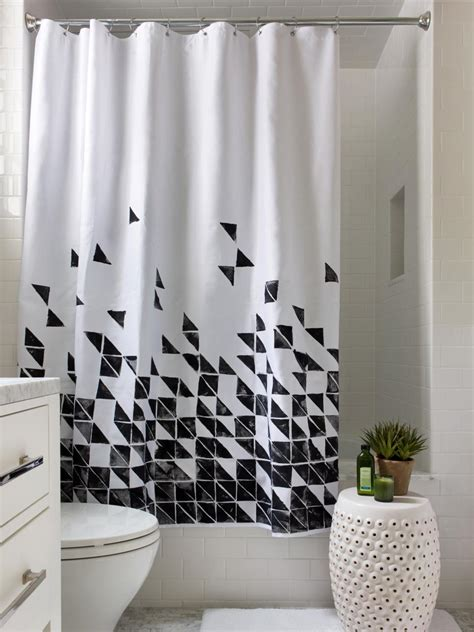hgtv curtains 3 easy ways to upcycle a plain shower curtain hgtv