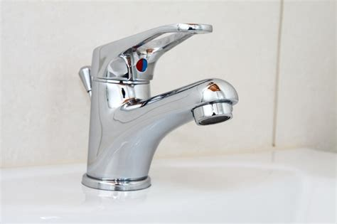 bathroom chrome clean faucet home metal shiny