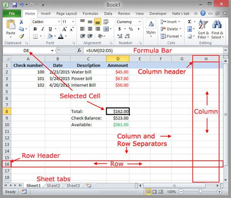 layout excel definition what is an active cell