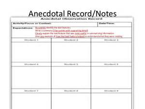 anecdotal template 1000 ideas about anecdotal notes on teaching