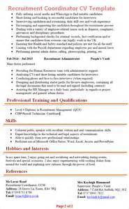 recruitment coordinator cv template 2