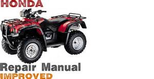 honda foreman rubicon 500 service manual repair 2001 2004