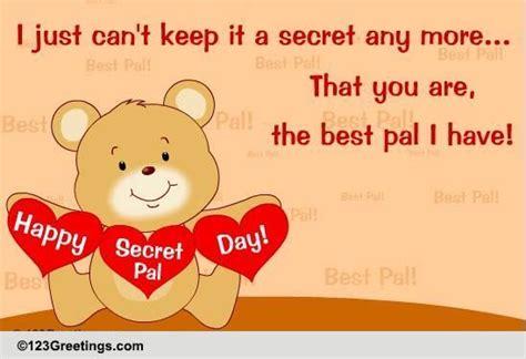 secret pal messages best pal free secret pal day ecards greeting cards 123