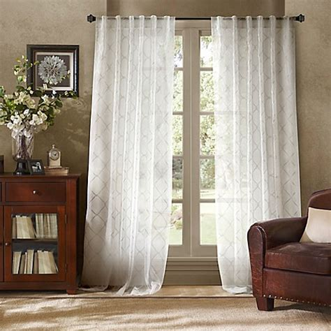 white back tab curtain panels bombay garrison sheer rod pocket back tab window curtain