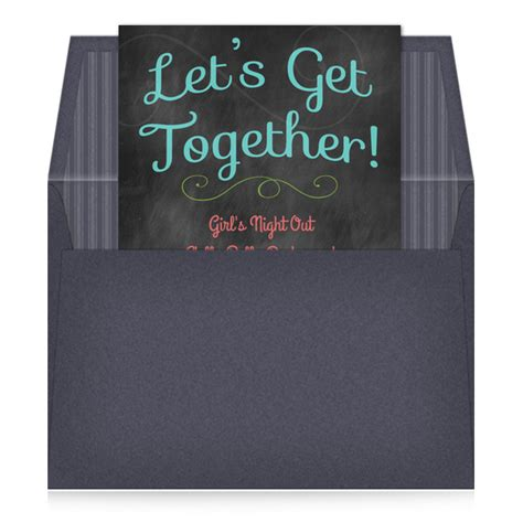 let s get together invitations cards on pingg com