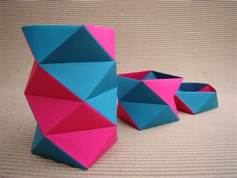 Office Origami - kit office origami papel pink e azul meemo elo7