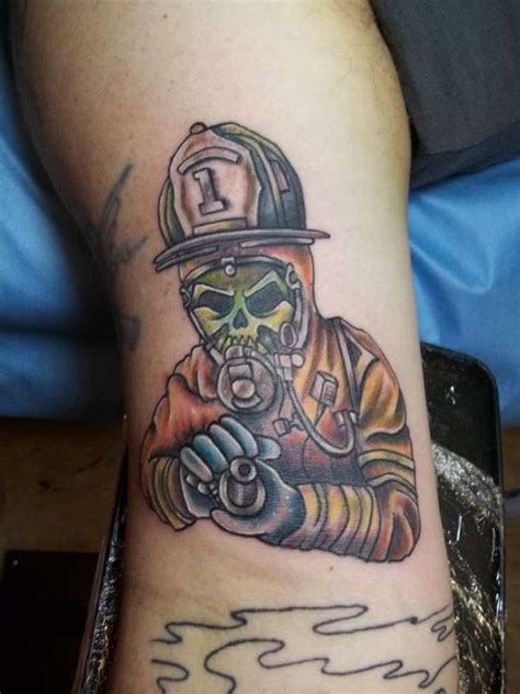 nuclear tattoo the gallery for gt firefighter mask drawing