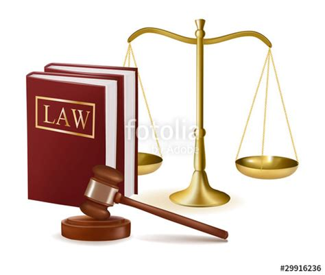 """""""scales of justice, judge gavel and law books. Vector ... Law Scale Of Justice"""