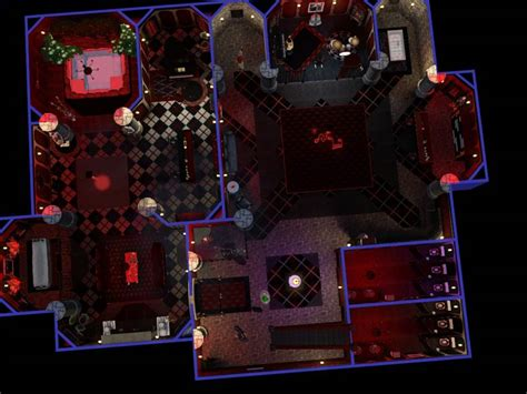 Mansion Floor Plans Free mod the sims the crypt club an underground gothic