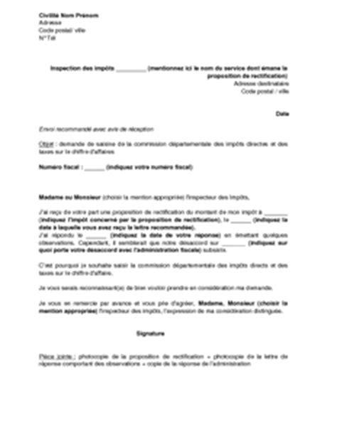 Lettre De Demande De Visa D Affaire Exemple Gratuit De Lettre Saisine Commission D 233 Partementale Imp 244 Ts Directs Et Taxes Sur Chiffre