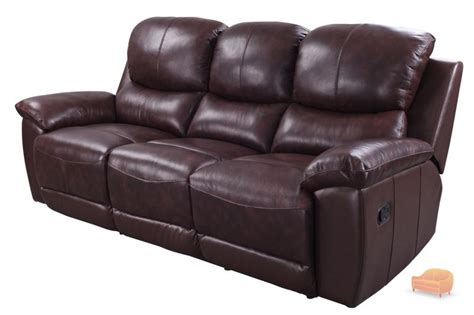 Real Leather Recliner Sofa Real Leather Recliner Sofa Recliner Sofas Real Leather Reclining Loveseat Chocolate Ivory 2