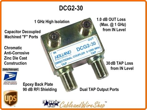 db  port cable tv antenna directional drop tap
