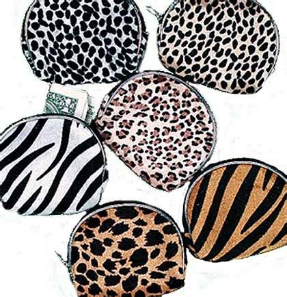 Animal Print Coin Purse classic animal print coin purse sweet 16 favors