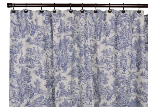 Blue And White Shower Curtains Blue And White Toile Shower Curtain Pale Blue Toile Shower Curtain By Unionsaltworks On Etsy