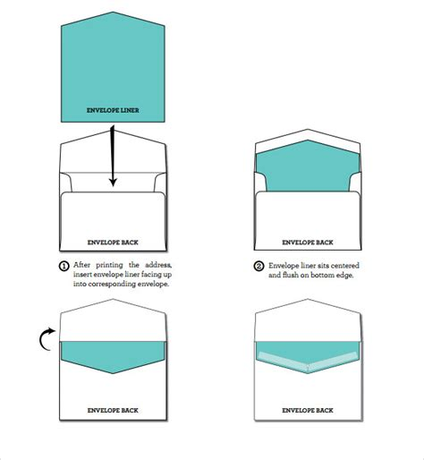 envelope liner templates    sample templates