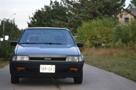 1980 Toyota Corolla Hatchback Find Used 1987 Toyota Corolla Fx Hatchback 2 Door 1 6l