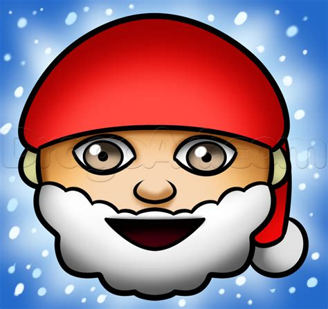 emoji drawings santa emoji drawing lesson step by step christmas stuff