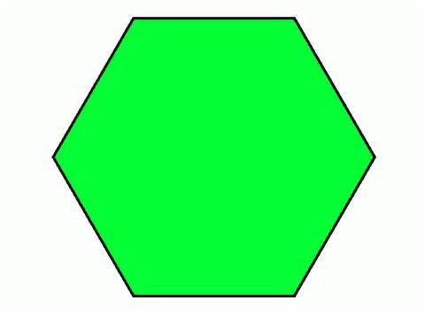 hexagon coloring printable hexagon