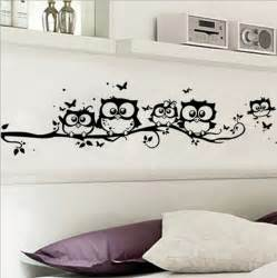 Decals For Home Decor by Diy Black Owl Cartoon Wall Stickers Removable Art Vinyl