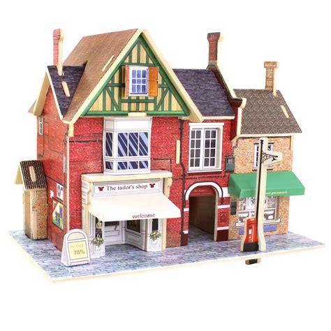Puzzle 3d Clothes Shop wooden 3d diy construction puzzle uk musical