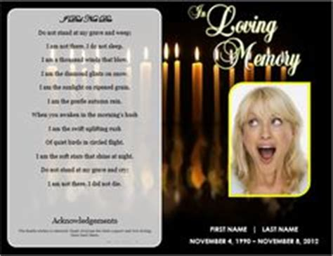 memorial service notice template 1000 images about printable funeral program templates on