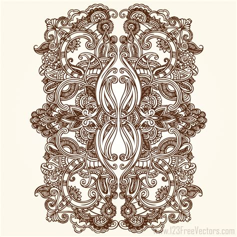 ornaments design floral ornament vector free free
